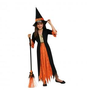 Disfarce Halloween Bruxa gótica meninas para uma festa Halloween