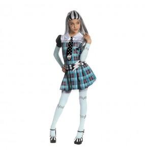 Disfarce Halloween Frankie Stein Monster High meninas para uma festa Halloween