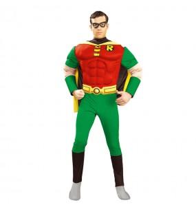 Disfarce Robin Musculoso - DC Comics ™ adulto divertidíssimo para qualquer ocasião