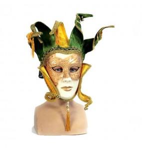 Máscara veneziana de luxo para completar o seu fato Halloween e Carnaval