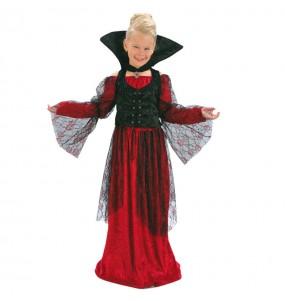 Disfarce Halloween Vampiresa Vermelha meninas para uma festa Halloween