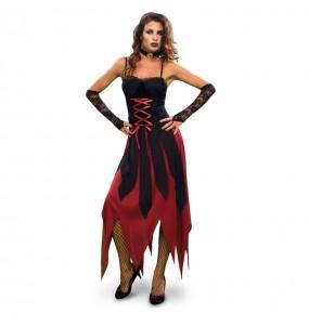 Disfarce original Vampira Gótica mulher ao melhor preço