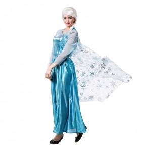 Disfarce original Princesa Gelo Frozen mulher ao melhor preço