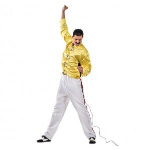 Disfarce Freddie Mercury adulto divertidíssimo para qualquer ocasião