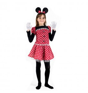 Disfarce Minnie Mouse menina para que eles sejam com quem sempre sonharam