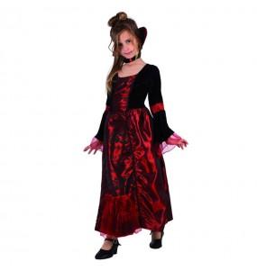 Disfarce Halloween Vampiresa gótica deluxe meninas para uma festa Halloween