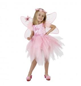 Disfarce Fada rosa menina para que eles sejam com quem sempre sonharam