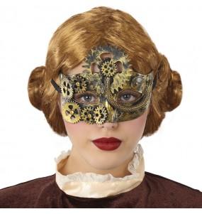 Máscara Steampunk vitoriana para completar o seu fato Halloween e Carnaval