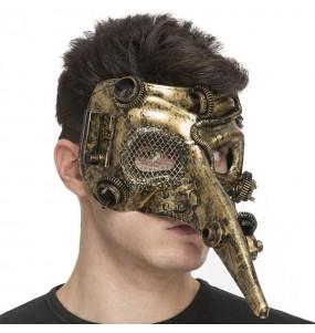 Máscara steampunk para completar o seu fato Halloween e Carnaval