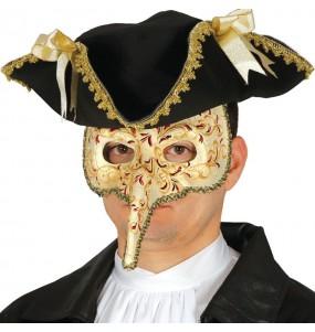 Máscara Veneziana com Bico para completar o seu fato Halloween e Carnaval
