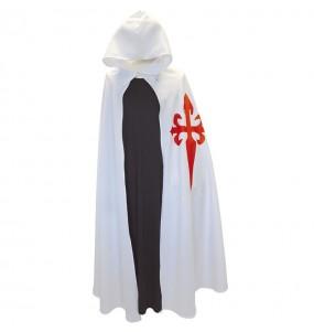 Disfarce Capa da Cruz Medieval Branca adulto divertidíssimo para qualquer ocasião