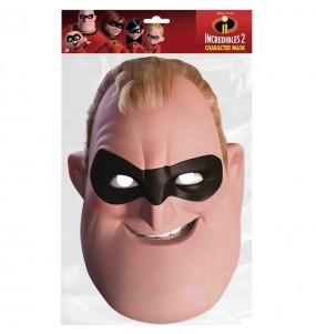 Máscara Roberto de Os Incríveis para menino para completar o seu fato Halloween e Carnaval