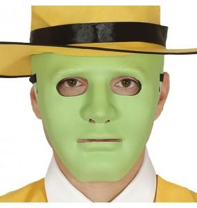 Máscara neutra verde para completar o seu fato Halloween e Carnaval