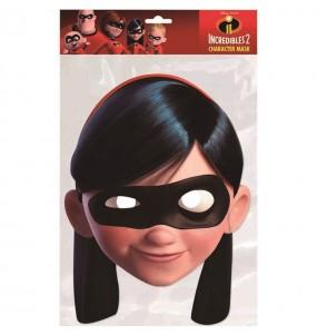 Máscara Violeta de Os Incríveis para menina para completar o seu fato Halloween e Carnaval