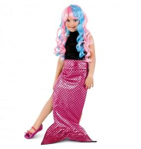 Cauda de sereia cor-de-rosa para meninas