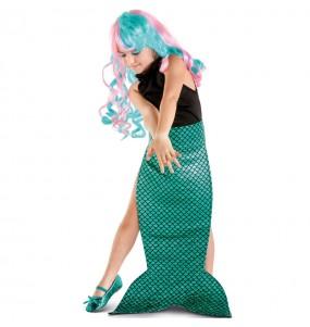 Cauda de sereia verde para meninas