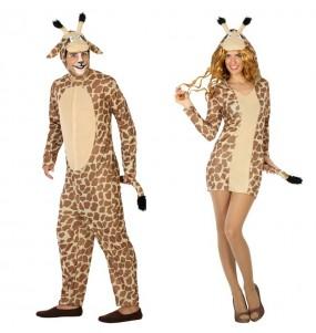O casal Girafas original e engraçado para se disfraçar com o seu parceiro