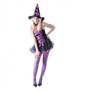 Fato de Bruxa mágica mulher para a noite de Halloween