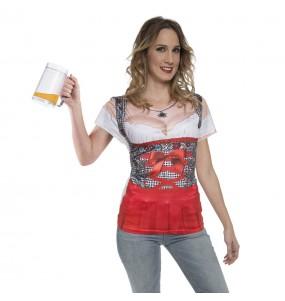 Disfarce original Camisola Oktoberfest alemã mulher ao melhor preço