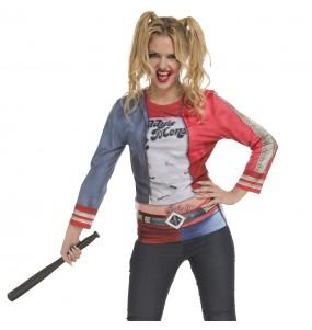 Fato de Camisola Harley Quinn mulher para a noite de Halloween