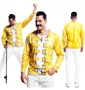 Disfarce Camisola Freddie Mercury adulto divertidíssimo para qualquer ocasião