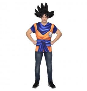 Disfarce Camisola Dragon Ball adulto divertidíssimo para qualquer ocasião