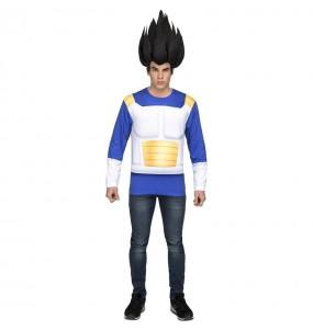 Disfarce Camisola Vegeta Dragon Ball adulto divertidíssimo para qualquer ocasião