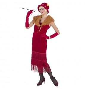 Disfarce original Charleston anos 20 vermelho mulher ao melhor preço