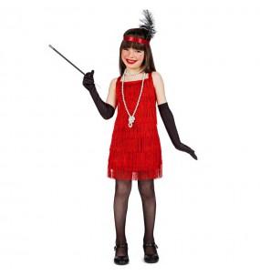 Disfarce Charleston Vermelho com franjas menina para que eles sejam com quem sempre sonharam