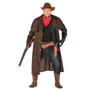 Disfarce Casacão Cowboy adulto divertidíssimo para qualquer ocasião