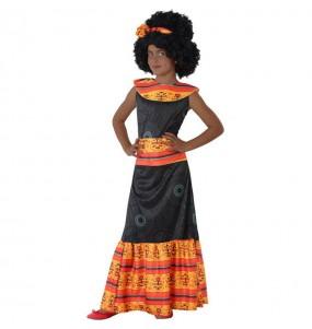 Disfarce Africana menina para que eles sejam com quem sempre sonharam