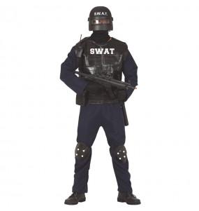Disfarce Agente SWAT adulto divertidíssimo para qualquer ocasião