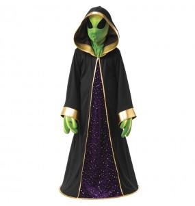 Disfarce Halloween Alien Halloween para meninos para uma festa do terror