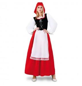 Disfarce original Aldeão com avental mulher ao melhor preço