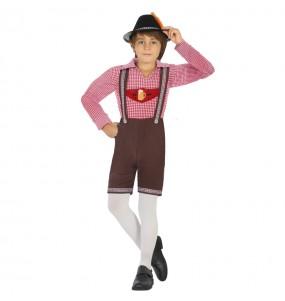Disfarce Alemão Oktoberfest menino para deixar voar a sua imaginação