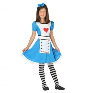 Disfarce Alice no País das Maravilhas menina para que eles sejam com quem sempre sonharam