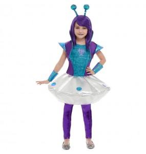 Fato de Alienígena espacial para menina