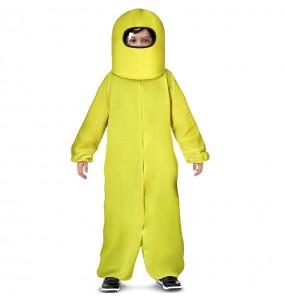 Fato de Among Us amarelo para menino