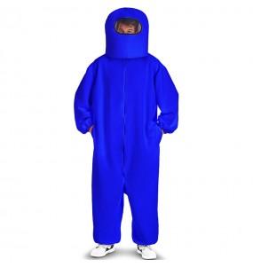 Fato de Among Us azul para adulto