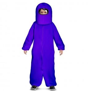 Fato de Among Us púrpura para menino