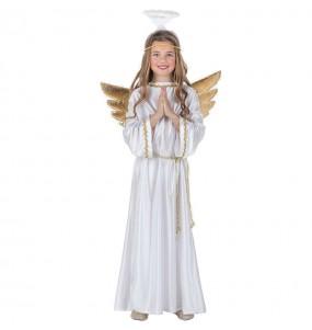 Disfarce Anjo de Natal com asas menino para deixar voar a sua imaginação