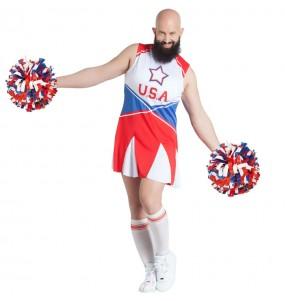 Fato de Cheerleader travesti para homem