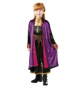 Disfarce luxo Anna Frozen 2 menina para que eles sejam com quem sempre sonharam