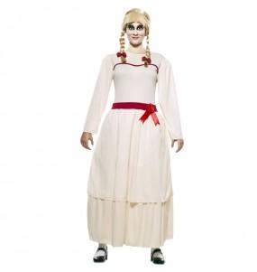 Fato de Annabelle Halloween mulher para a noite de Halloween