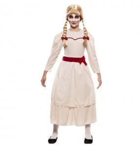 Disfarce Halloween Annabelle Halloween meninas para uma festa Halloween