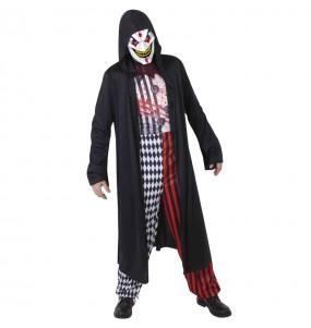 Fato de Joker psicopata adulto para a noite de Halloween