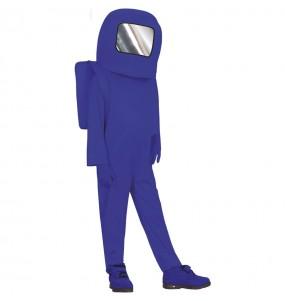 Fato de Astronauta Among us azul para menino