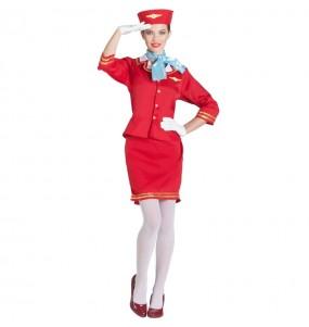 Disfarce original Hospedeira Avião mulher ao melhor preço