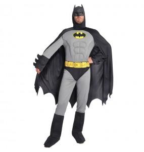 Fato de Batman musculoso cinzento para homem