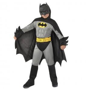Fato de Batman musculoso cinzento para menino